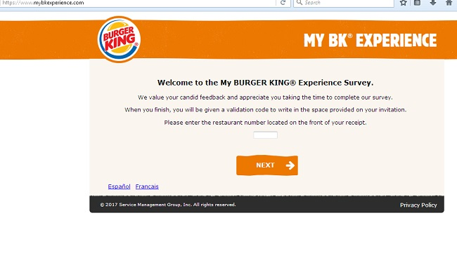 restaurant survey samples