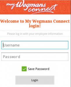 mywegmansconnect